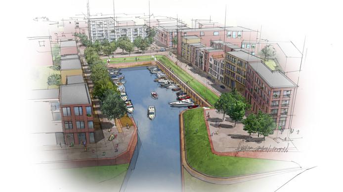 Een impressie uit 2012 van de Noorderhaven, gepresenteerd door ontwikkelaar Heijmans.