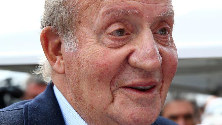 De voormalige Spaanse koning Juan Carlos. Het interview met hem is niet op de Spaanse tv te zien. Beeld null