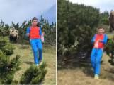 12-jarige Alessandro staat oog in oog met bruine beer