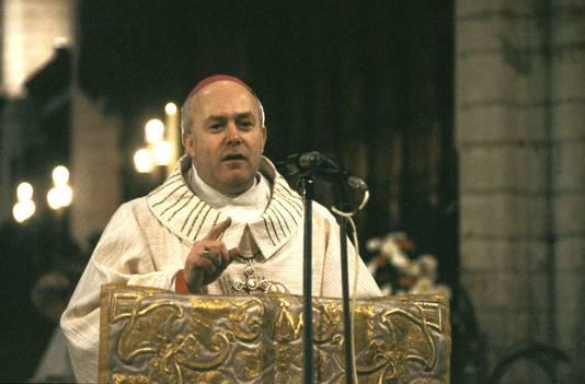 Godfried Danneels lors de sa nomination en tant qu'archevêque de Mechelen et président de la conférence des évêques de Belgique, en 1980.