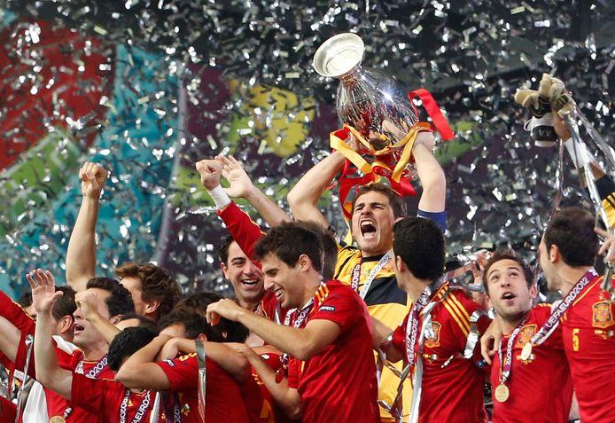 Spanje wint naast het EK in 2008 ook het EK in 2012.