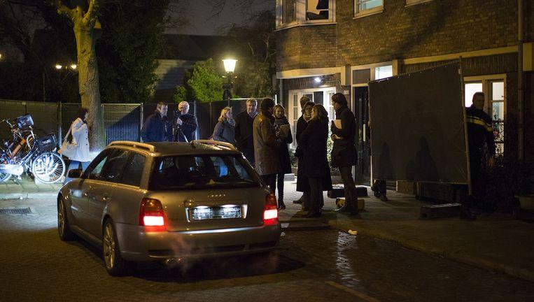 Op de Van Rappardstraat en Van Bossestraat staat de Audi klaar die op die bewuste avond in december 2012 door de schutters is gebruikt. Beeld Elmer van der Marel