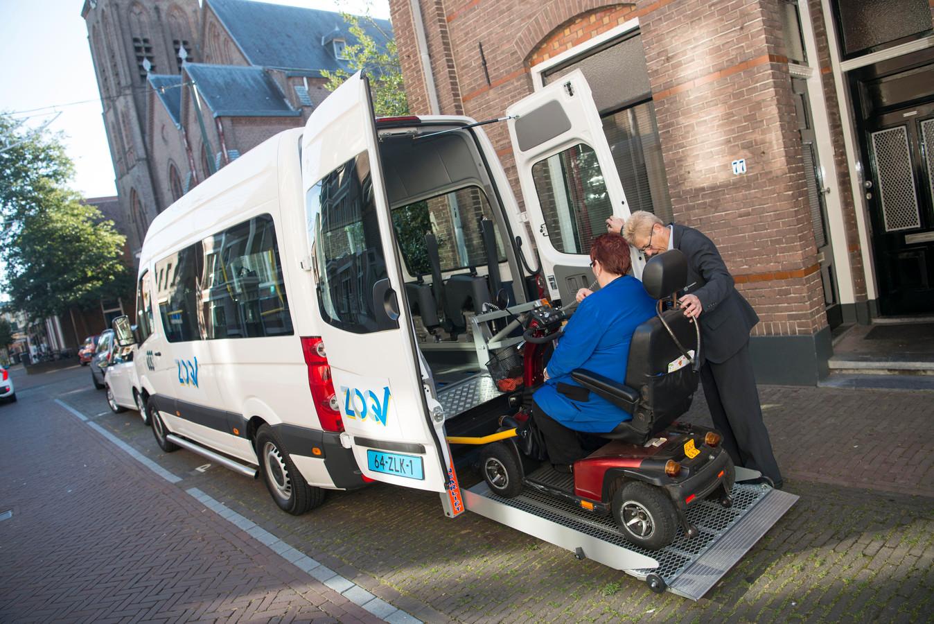 Een voorbeeld van het vervoerstype 'regiotxi'