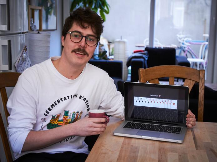 Gentenaar Jannes Van Houcke haalde als eerste een solo slim op Whisthub.