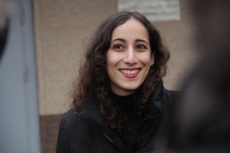 De Nederlandse Greenpeace-activiste Faiza Oulahsen bracht maanden door in een Russische cel. Beeld EPA