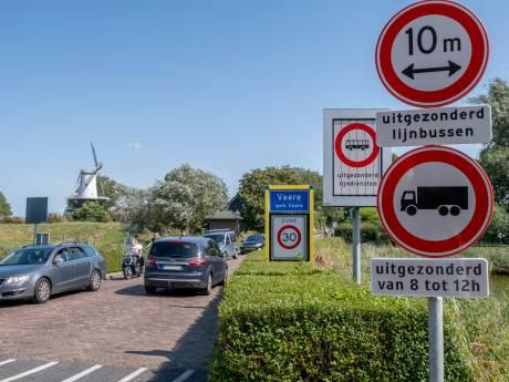 Vrachtwagens nog maar beperkt welkom in Veere