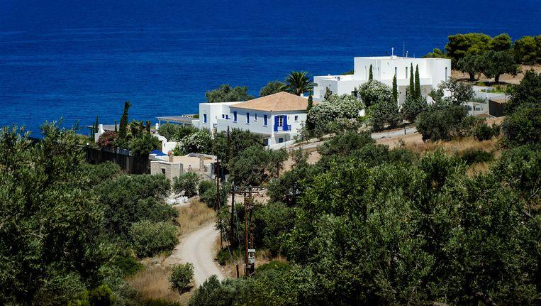 Het vakantiehuis van koning Willem-Alexander en koningin Máxima in de Zuid-Griekse plaats Kranidi. Beeld anp