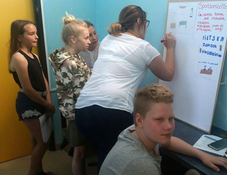 De Wachtebeekse scholieren formuleerden een pak goede ideeën.