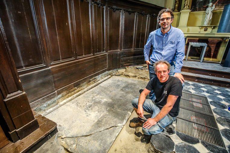 Het graf werd in de 17de eeuw waarschijnlijk verplaatst