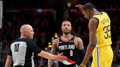 VIDEO. Trail Blazers, met acht spelers in dubbele punten, bezorgen Warriors nieuwe nederlaag in NBA