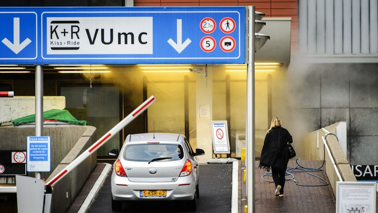 Het VUmc was in september vorig jaar twee weken dicht nadat een breuk in de waterleiding enorme schade aanrichtte Beeld anp