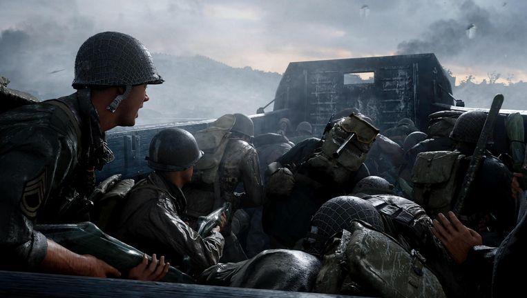 De landing in Normandië in Call of Duty: WWII. Beeld Sledgehammer
