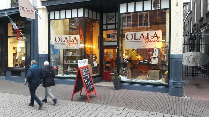 De winkel van Olala Chocola in de Rijnstraat in Arnhem.