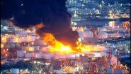 VIDEO. Inferno in petrochemisch bedrijf is meer dan 15 km ver te zien