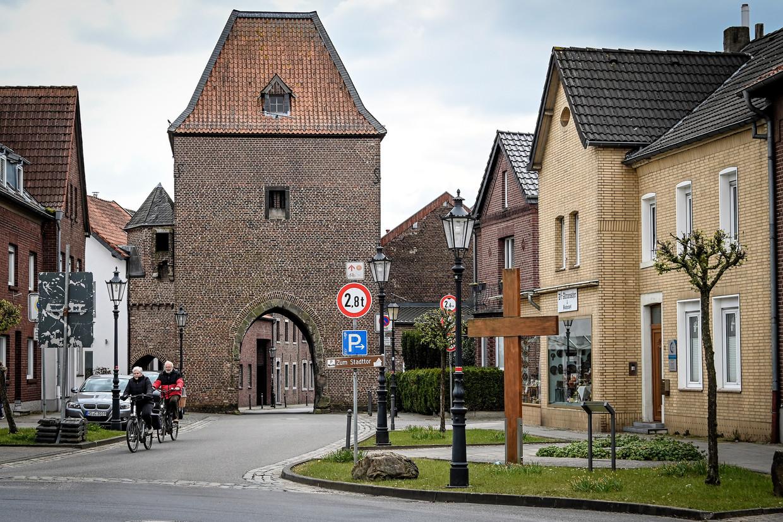 Het dorp Gangelt, waar zo'n 15 procent van de inwoners met het coronavirus besmet is geraakt. Beeld EPA