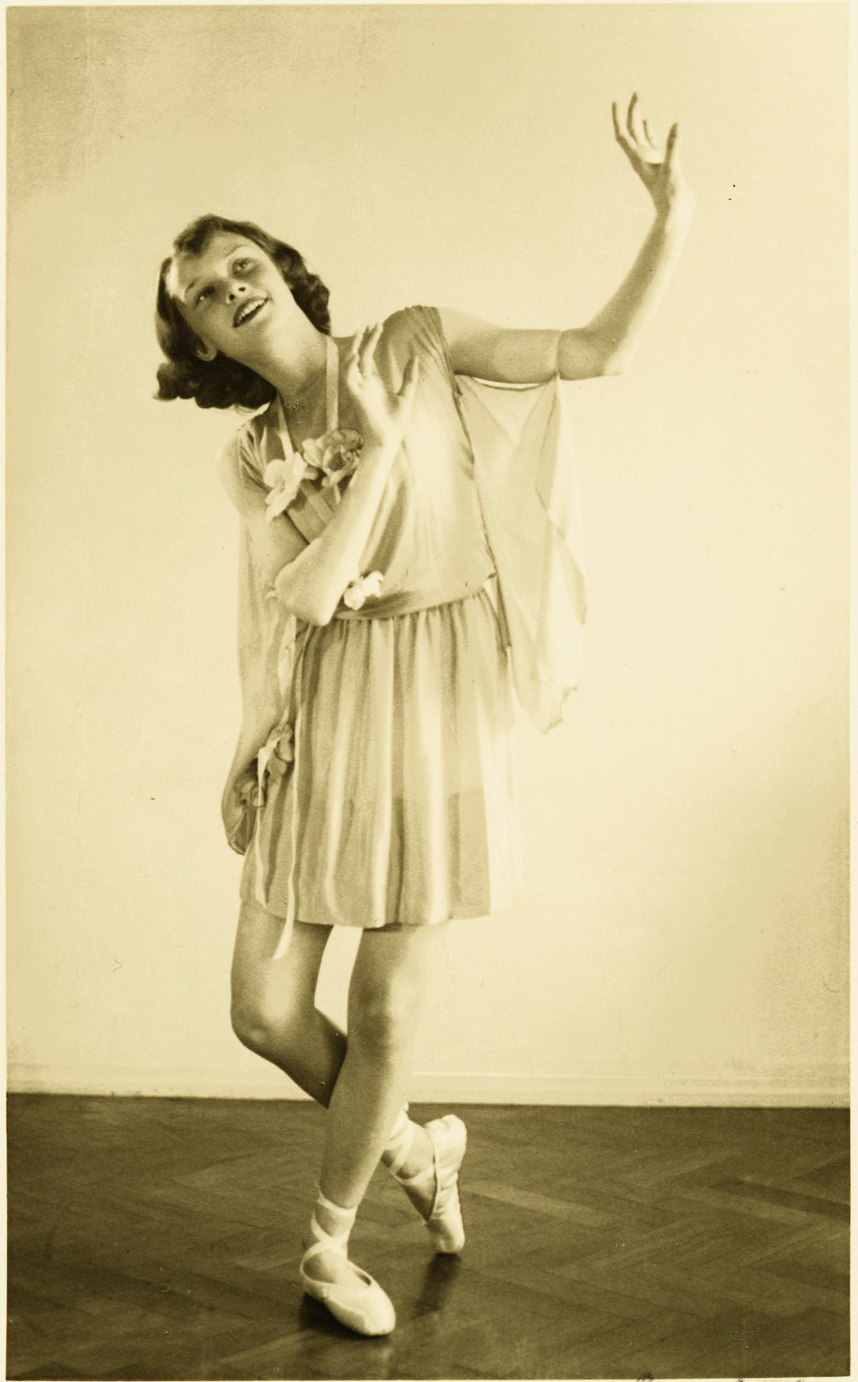 Hepburn (hier in 1942) droomde van een carrière als ballerina, en niet als filmster.