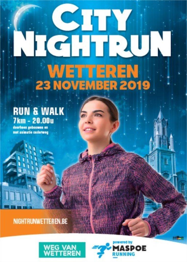 Eerste City Nightrun in Wetteren.