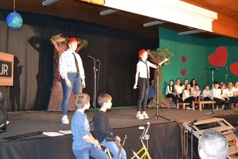 De musical in de school