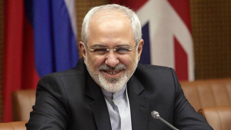 De Iraanse minister van Buitenlandse Zaken Mohamad Javad Zarif. Beeld reuters