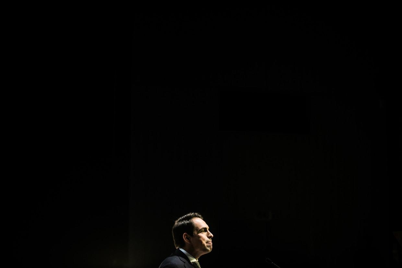 Vlaams Belang-voorzitter Tom Van Grieken.