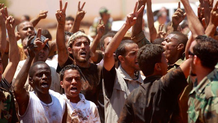 Rebellen in Benghazi. Beeld reuters