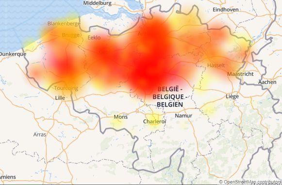 Door de storing zaten een tienduizendtal klanten van Proximus in West- en Oost-Vlaanderen zonder vast internet.