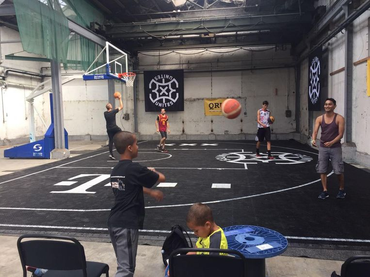 Bij QRU kun je ook 3x3 basketballen. Beeld QRU