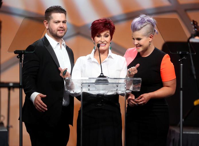 Jack Osbourne, Sharon Osbourne et Kelly Osbourne, 2015.