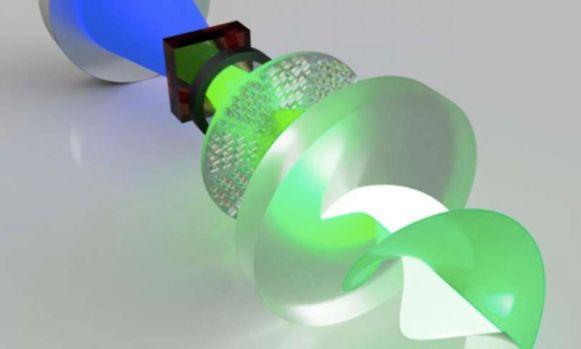 Laser met superchiraal licht