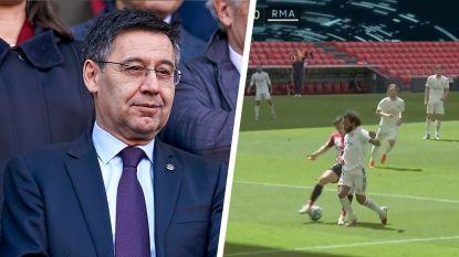 """Barcelona-voorzitter zag match van Real en windt er geen doekjes om: """"VAR bevoordeelt altijd hetzelfde team"""""""