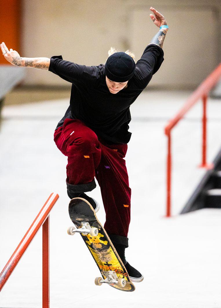 Candy Jacobs (30) maakt zich niet druk over het leeftijdsverschil met veel andere skaters. Beeld Jiri Büller / de Volkskrant