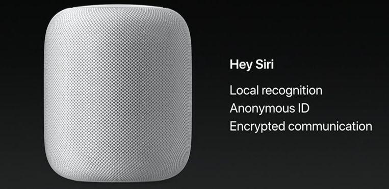 WWDC-slide van de HomePod.