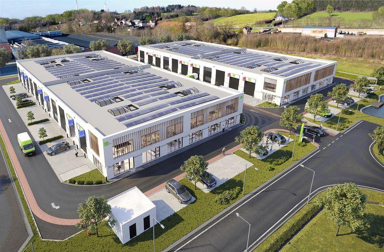 Nieuw bedrijvenpark met 2 gebouwen en 26 units.