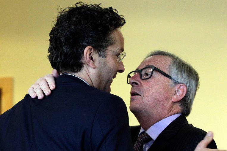 Dijsselbloem met Commissievoorzitter Juncker. Beeld AP