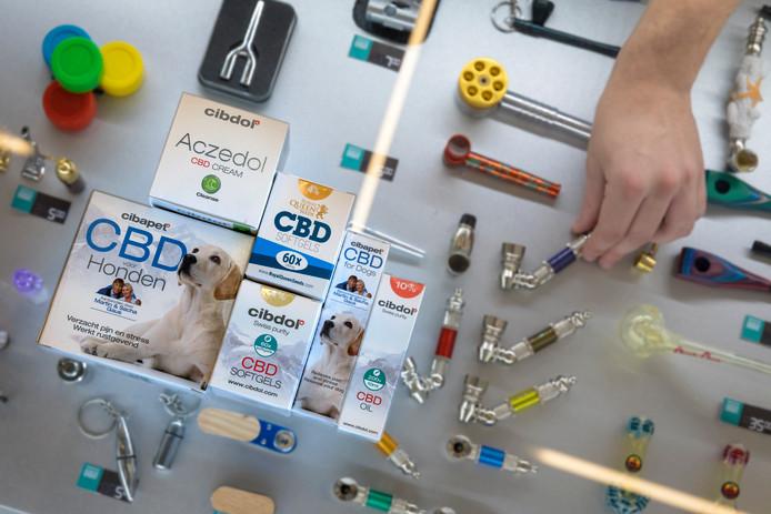 Producten in de smartshop van Den Bosch waar de CBD producten populair zijn.
