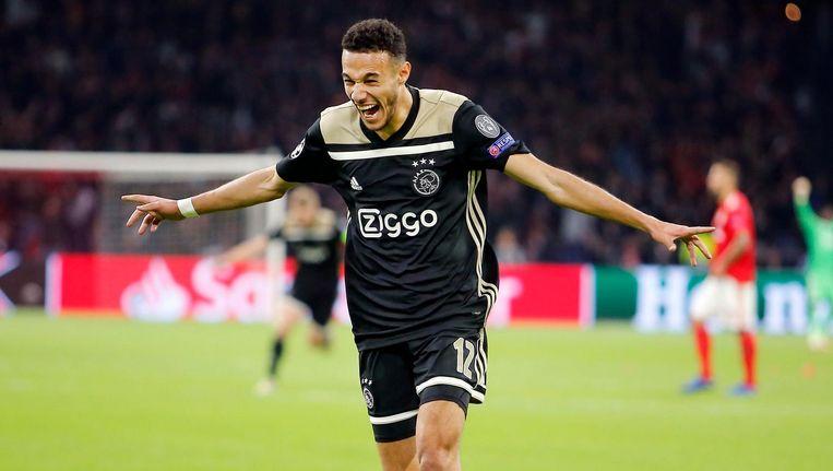 Noussair Mazraoui maakte in blessuretijd het enige doelpunt: 1-0. Beeld Pro Shots / Niels Boersema