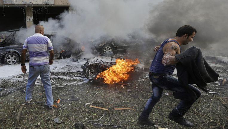 Op 19 november vonden twee explosies plaats vlakbij de Iraanse ambassade in Beiroet. Beeld ap