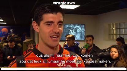 """Courtois: """"Zou leuk zijn als Eden Hazard naar Real komt"""""""