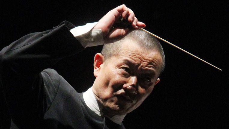 Tan Dun eerder dit jaar tijdens een concert in Chili. Beeld epa