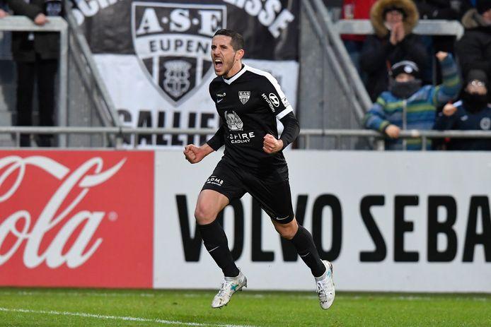 Na de winning-goal van Raspentino mag Eupen weer hopen.