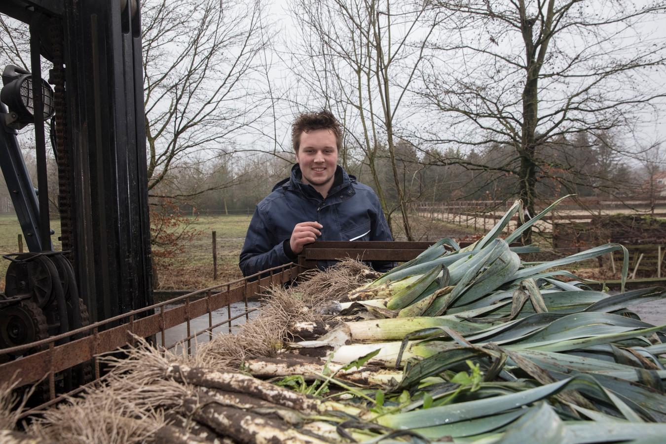 Vollegrondkweker Joost van den Oetelaar in Spoordonk.
