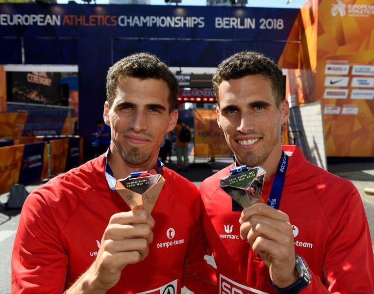 Kevin en Jonathan Borlée kenden ook individueel succes op het EK. De broers liepen naar zilver en brons op de 400m.