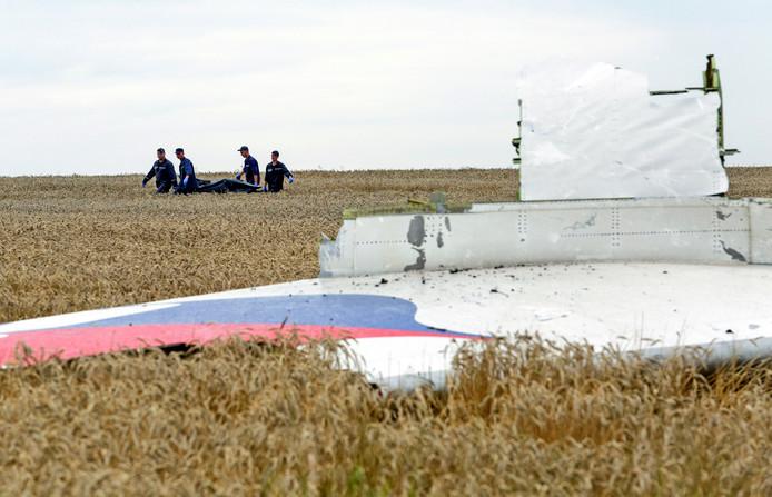 Overblijfselen van vlucht MH17.