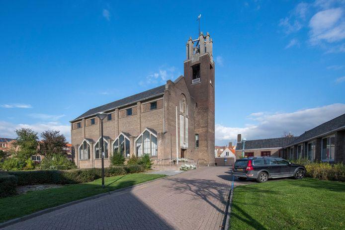 De kerk aan het Kerkplein in Oostburg.