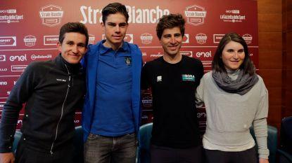 """Van Aert schittert naast de groten op persconferentie Strade Bianche - organisator: """"Wout kan winnen"""""""