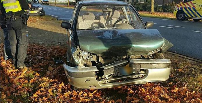 Flinke schade aan de achterste auto