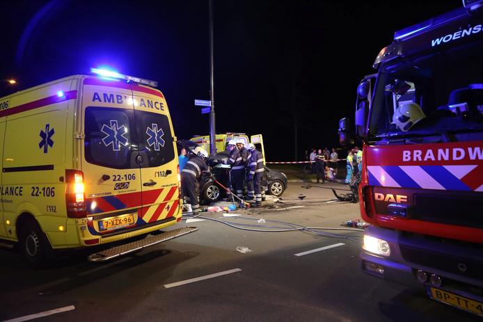 Bij een ongeluk op de Huizingalaan zijn 5 gewonden gevallen.
