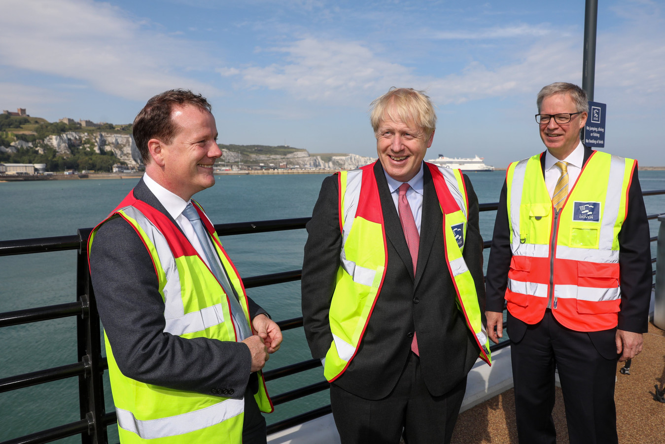 Charlie Elphicke (à gauche) avec le Premier ministre Boris Johnson