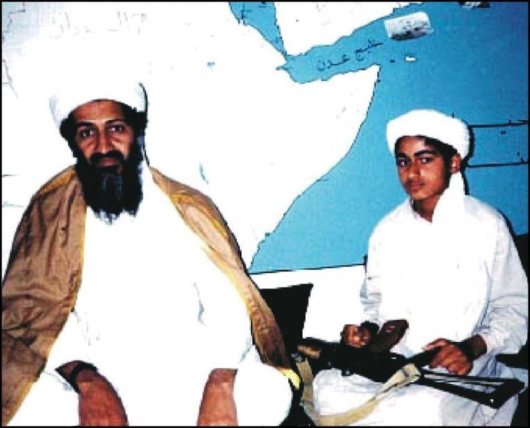 Hamza Bin Laden met vader Osama.