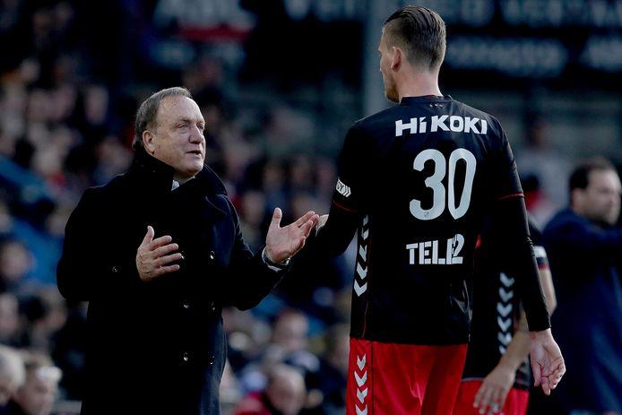 FC Utrecht-coach Dick Advocaat en spits Michiel Kramer